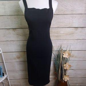 ASOS Black Overall Apron Midi Dress